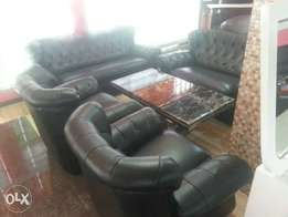 Set Of Sofa Leather Chairs By 7sitters