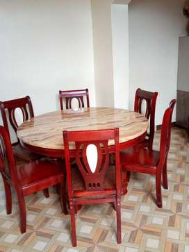 Marble Top Dining Table With Six Chairs