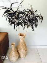 Coricraft Weave vases and feathers