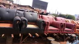 Leather sofa,seven or five seaters.