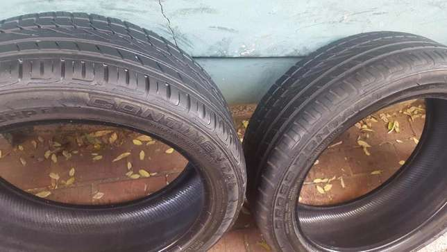 Two genuine 70% Tread 245/45/20 Continental Cross Contact UHP Tyres fi Johannesburg - image 1