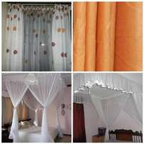 Polka Dot Curtain & Mosquito Nets