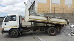 Truck for hire and rubble removals