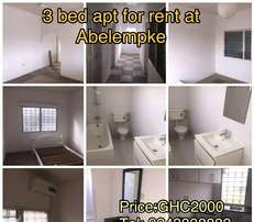 Three Bedrooms Apartment For rent At Abelenkpe