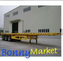 Flatbed Truck Trailers for one 40Feet or two 20Feet Container