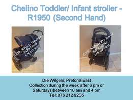 Second Hand Chelino Twin Pram - Please call after 5 pm during the week