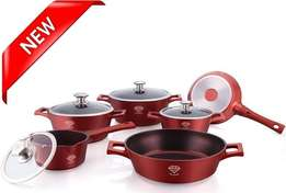 Royalty Line 10-Piece Die Cast Diamond Coating Cookware Set 75%OFF
