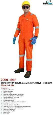CodE:rGf,100% COTTon coVeRalL wITH rEFleCtivE -240 gSM