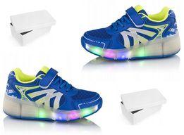 a9e5d6d5 Butorolki LED świecące buty na kółko wrotki rolki 30-38