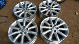 Original toyota rims 17 inch in complete set
