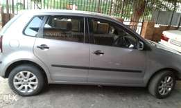 2008 polo hatchback dark silver and good bargain