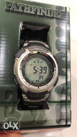 casio pathfinder for men , full titanium , solar energey