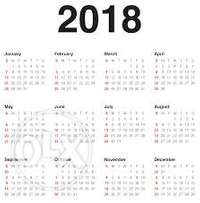2018 diaries an calendar design n print