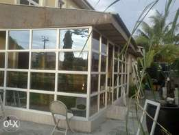 frontage aluminum glass and alco board
