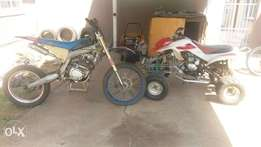 Selling 250 4 wheeler and 250 off road bike