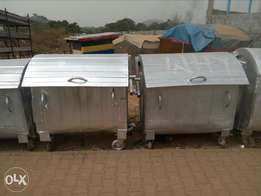 Galvanised Steel bin. Free delivery Payment on delivery. Yuletide