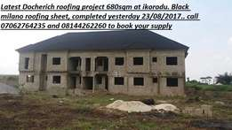 Our stone coated roofing sheet is resistant to sound and rain noise