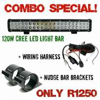 120W Cree led light bar combo special