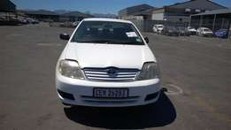 Damaged 06 Corollla 140i GLi for sale