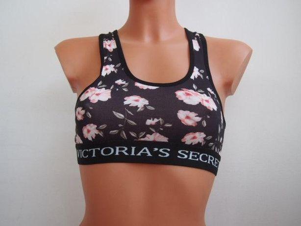 bf541560e35e90 Granatowy komplet bielizny top+stringi S-XL Victoria's Secret Piastów -  image 2