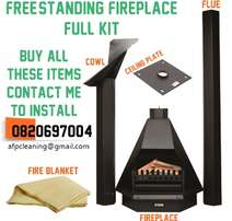 Free-Standing FIREPLACE installations & chimney sweep / cleaning