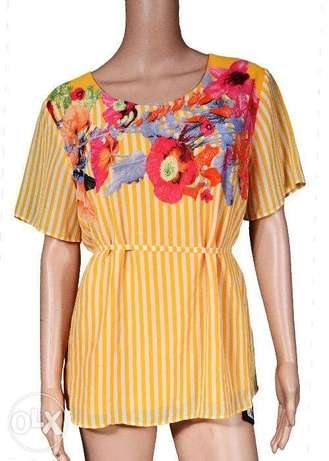 Orange & White Floral Top Lagos Mainland - image 1