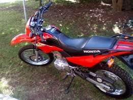 A nice Red Honda XR 125