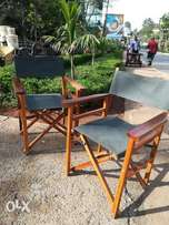 Safari chairs with canvas material, self made