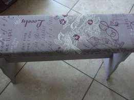 Bench chair covered with Vintage Style Fabric
