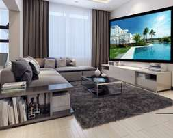 """4k UHD SCREENS from 65""""-300inches.free projector"""