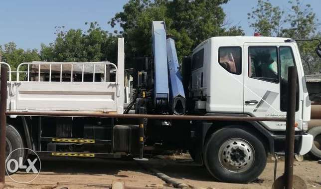 Truck with hiab crane for rent