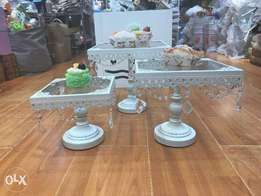 Cake Stand Square- Crystals