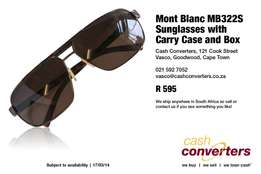 Mont Blanc MB322S Sunglasses with Carry Case and Box