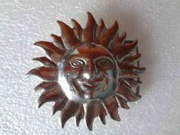 2X Silver Sun Belt Buckle For Sale