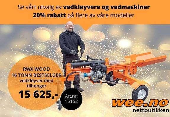 Vedkløyver.no 16 Tonn Bs Motor - 2019