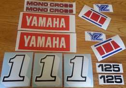 YZ 125 graphics decal set - 1985