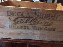 Vintage wooden record box