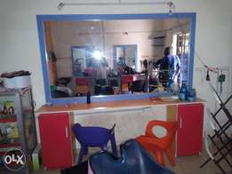 3nos of saloon standing mirror and hair dryer.