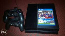Clean 5 Months Old Used Ps4 With 2 Pads (1tb) With Pes 2017 cd