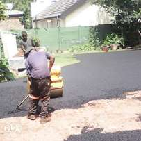 tar tennis courts and privates roads tarring