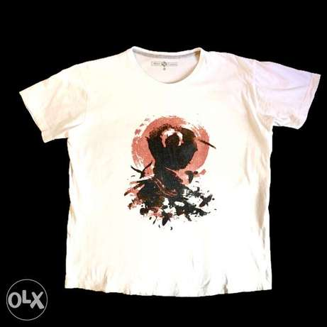 Ninja Samurai Print Cotton T-Shirt