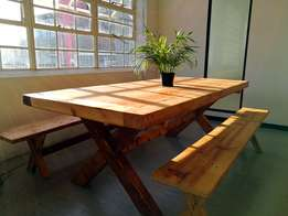 Trendy wooden dining tables