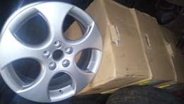 Clean set of polo GTI Sport rims with tyrese for sell