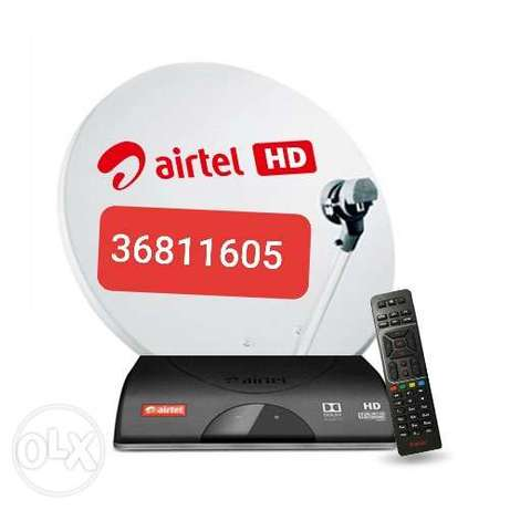 Airtel dish and receiver available with fixing