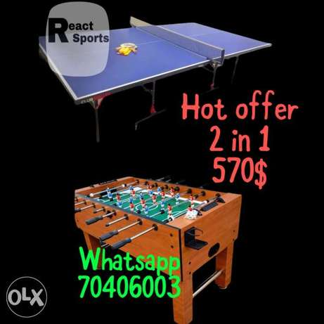 we deliver during lockdown - babyfoot - pingpong table