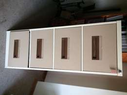 Steel cabinet with keys and files