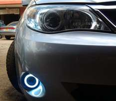 GH3/2: Subaru impreza/anesis: LED fog lamps with angel eye rings: 9500