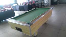 Immaculate coin operated pool table