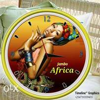 customised wall clock with your best piece of art