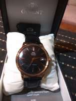 Orient bambino v2 automatic watch Rose Gold and black